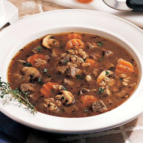 mushroom beef barley soup baby portobello mushrooms also known as ...