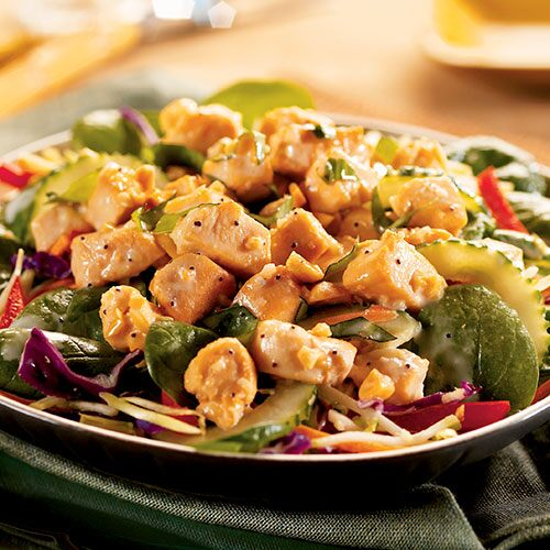 Chicken Curry Stir-Fry Salad
