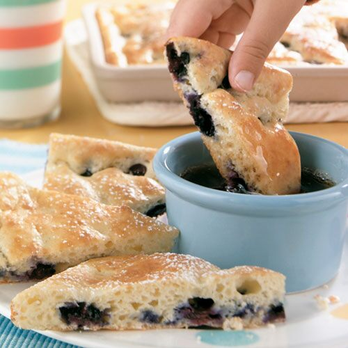 Blueberry Pancake Triangles