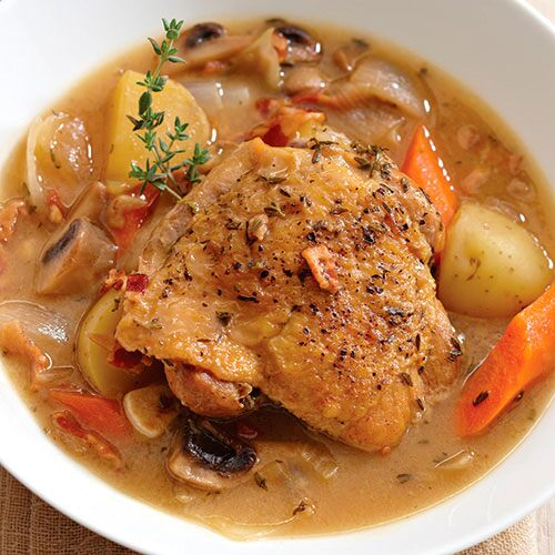 Braised Chicken in Wine Sauce