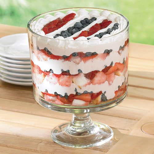 Red, White & Blueberry Trifle