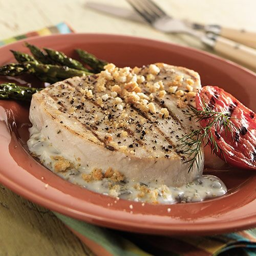 Swordfish with Dill-Caper Sauce