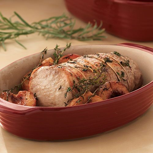 Savory Pork Roast with Apple Stuffing
