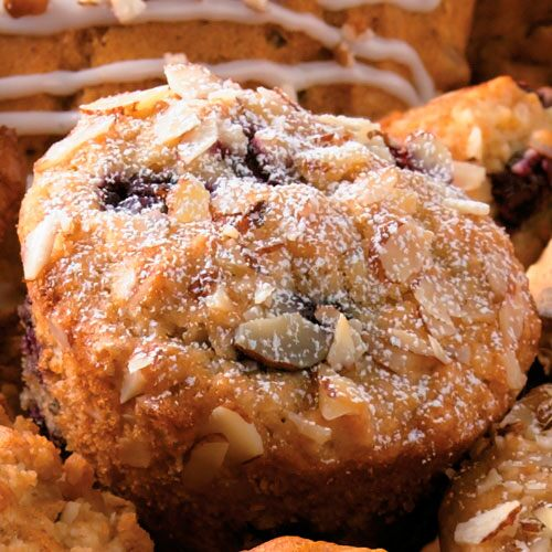 Cherry cheese coffee cake recipes pampered chef us site - Garden lites blueberry oat muffins ...