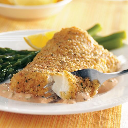 Spicy Oven-Fried Cod Fillets