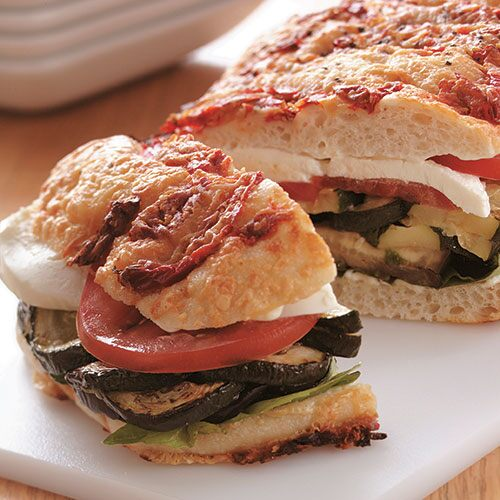Roasted Vegetable Focaccia Sandwich