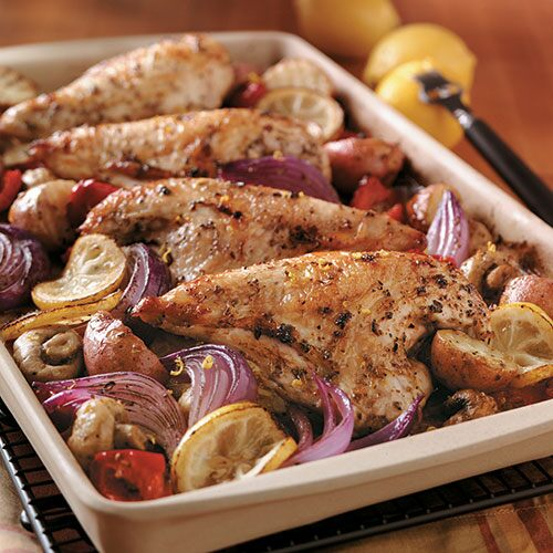 Lemon Greek Chicken Recipes Pampered Chef Us Site