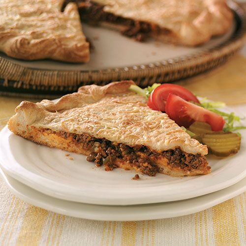 Cheeseburger Stuffed Calzone