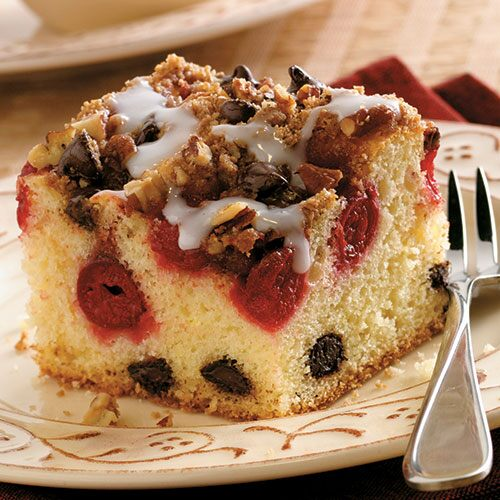 Cherry-Chocolate Coffee Cake