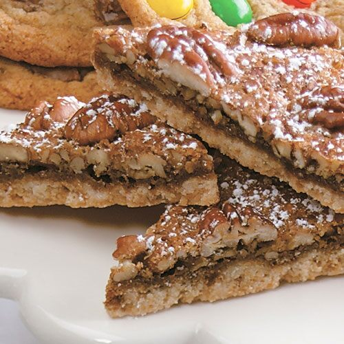 Pecan Praline Cookie Triangles - Recipes | Pampered Chef US Site