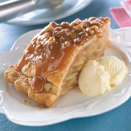 Upside-Down Caramel Apple Pie