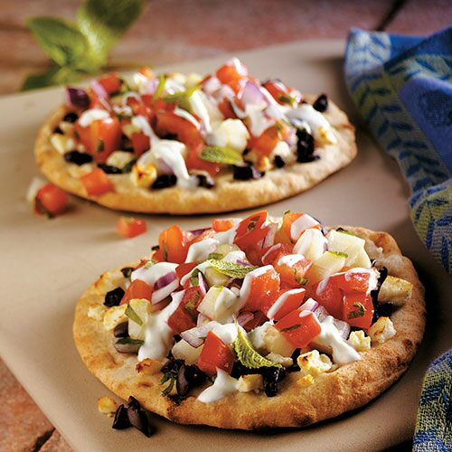 Greek Pita Greek Pita Pizzas