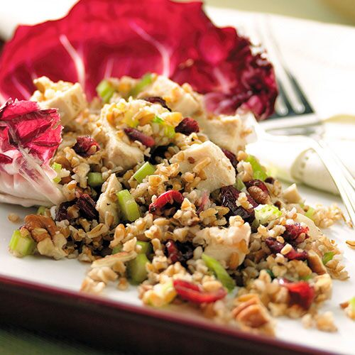 Cider-Poached Chicken & Bulghur Wheat Salad