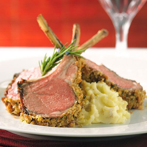 Rack of Lamb with Mustard Crust