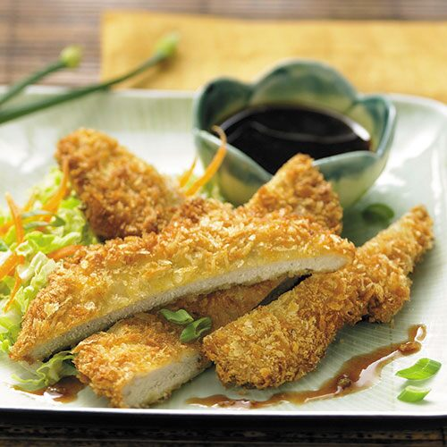 Panko-Crusted Pork with Plum Sauce