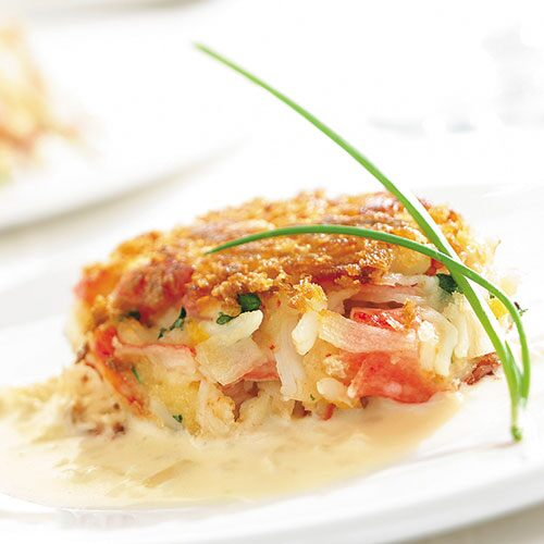 Crusty Crab Cakes with Lemon-Butter Sauce