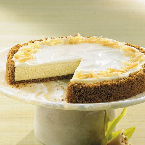 Crystallized Ginger Cheesecake
