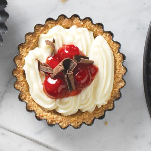 Cherry-Cheese Holiday Tarts