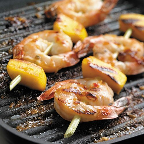 send to a friend grilled shrimp on lemongrass skewers lemongrass a key ...