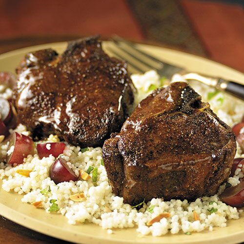 Glazed Moroccan Lamb Chops