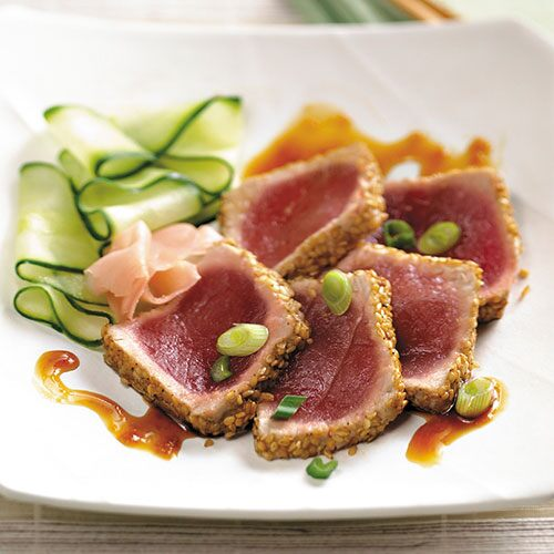 Seared Ahi Tuna with Sesame-Ginger Glaze - Recipes | Pampered Chef US ...