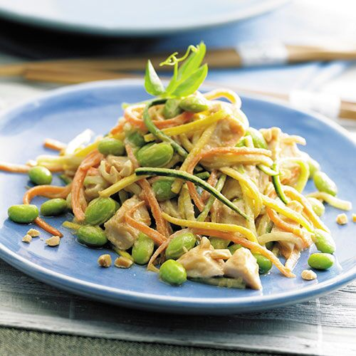 edamame chicken salad this colorful crunchy salad uses julienne cut ...