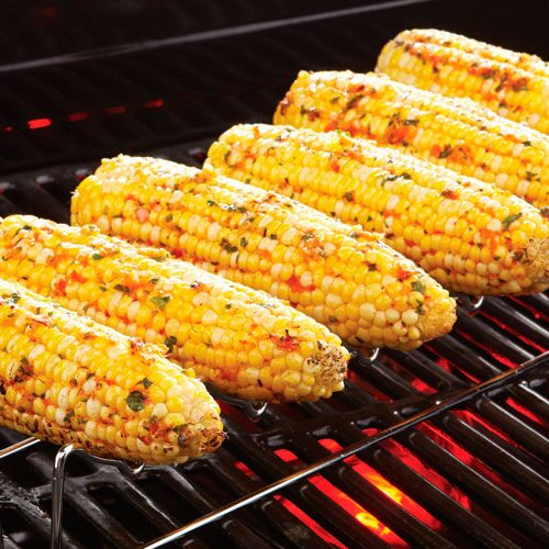 Grilled Corn with Roasted Red Pepper ButterRecipes Pampered