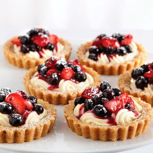 Red, White & Blueberry Tarts