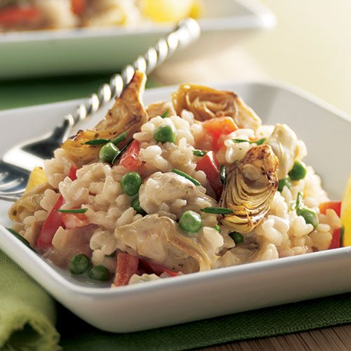 Artichoke & Red Bell Pepper Risotto