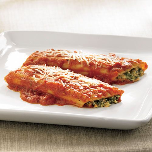Spinach & cheese-Stuffed Manicotti