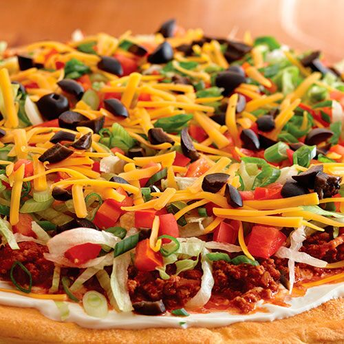 Mexican Fiesta Salad Pizza