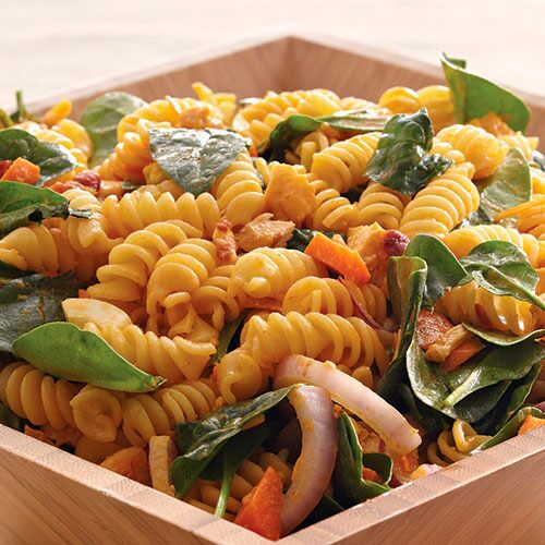 Tangy Spinach and Pasta Salad