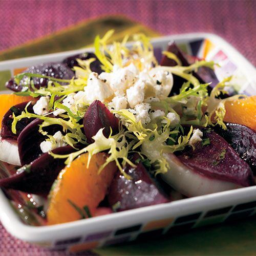 Fresh Beet Salad with Orange Vinaigrette