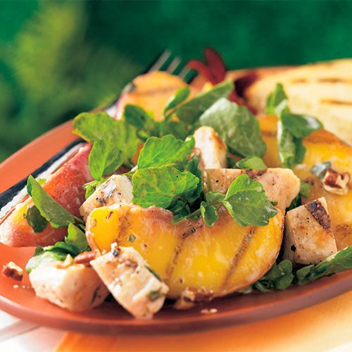 Grilled Georgia Peach and Chicken Salad