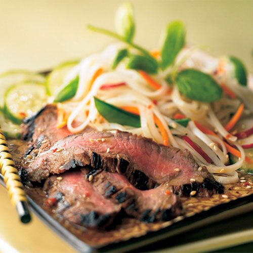 Japanese-Style Wasabi Steak Salad