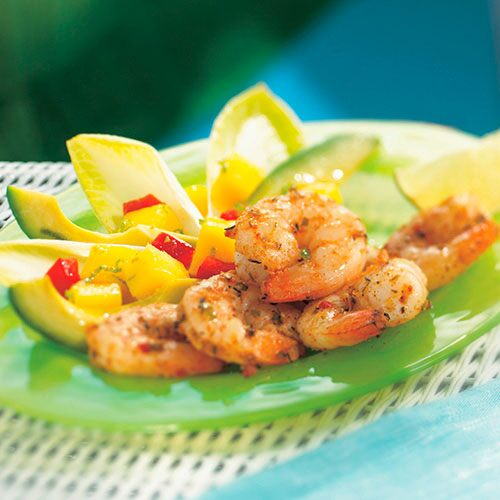 Jerk Shrimp, Mango & Avocado Salad