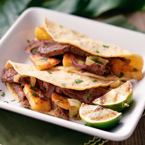 Steak & Plantain Tacos