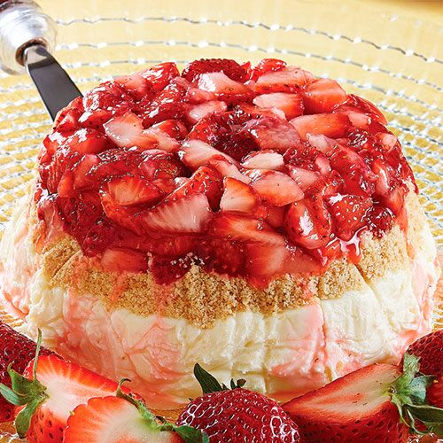 Strawberry Cheesecake Bombe