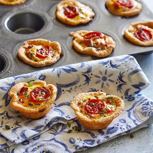 Quiche lorraine tartlets recipes pampered chef us site quiche lorraine tartlets forumfinder Gallery