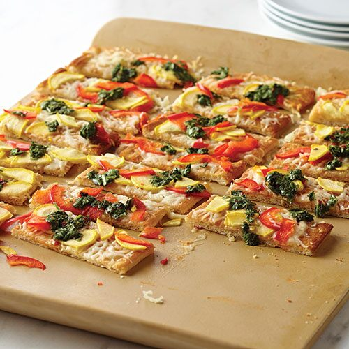 Fresh Veggie and Herb Flatbread