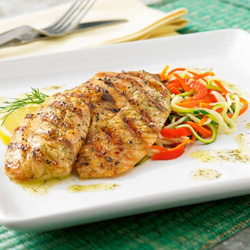 Dilled Tilapia with Julienne Vegetables