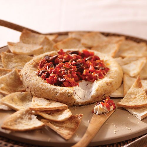 Baked Mediterranean Cheese Spread