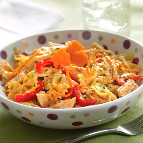 Satay Chicken Pasta Salad