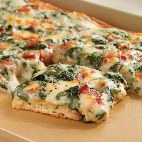 Spinach Carbonara Pizza