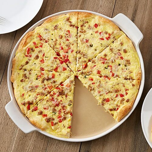 Sausage Amp Pepper Brunch Pizza Recipes The Pampered Chef