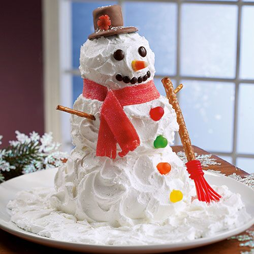 Snowman cake recipe christmas recipes