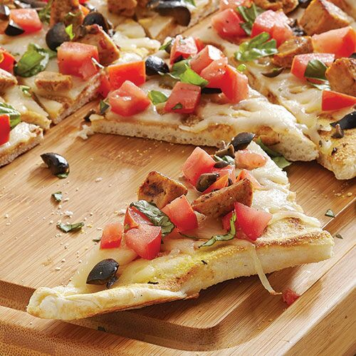 Grilled Mediterranean Pizza