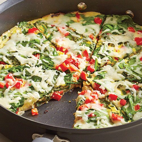 Fresh Spinach & Red Pepper Frittata