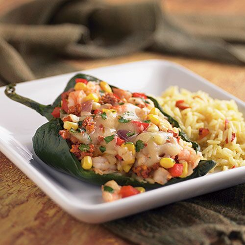 Stuffed Peppers with Shrimp & Chorizo