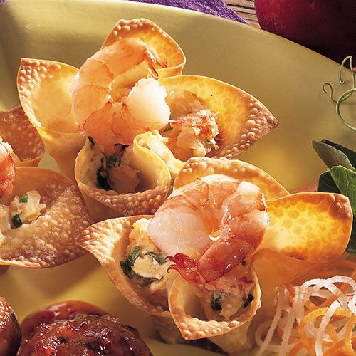 Shrimp Wonton Cups Recipes Pampered Chef Us Site